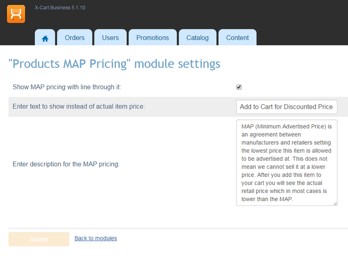 Products MAP Pricing For XCart XCart Forums - What does map pricing mean